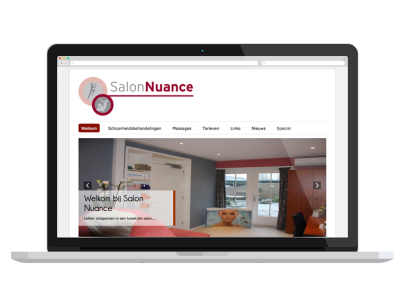 Website Salon Nuance