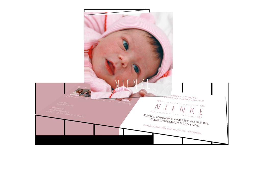 Geboortekaartje Nienke